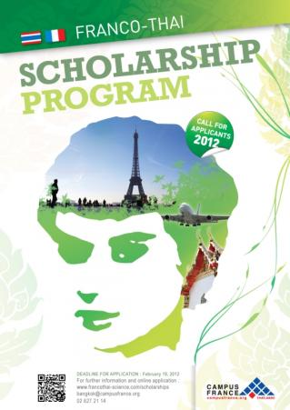 2012 FRANCO-THAI SCHOLARSHIP PROGRAM