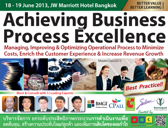 'Achieving Business Process Excellence' Masterclass 2013
