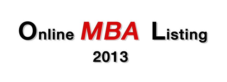 Online MBA Listing 2013