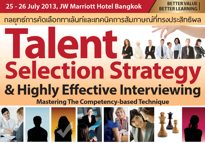 Talent Selection Strategy & Highly Effective Interviewing