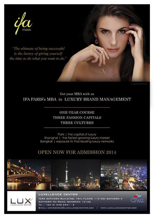 IFA Paris's MBA Luxury Brand Management