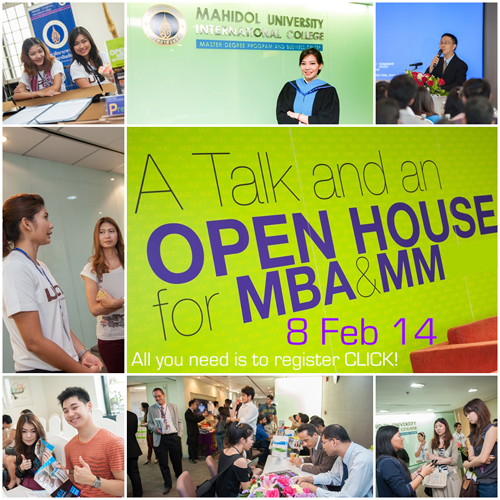 MUIC Open House (MBA-MM) 8 Feb 2014