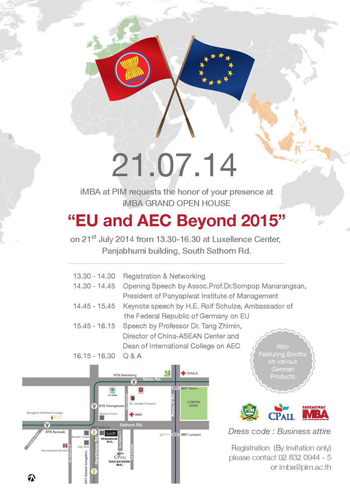 "iMBA Celebrates the 1st Anniversary with iMBA Grand Open House on ""EU and AEC Beyond 2015"""