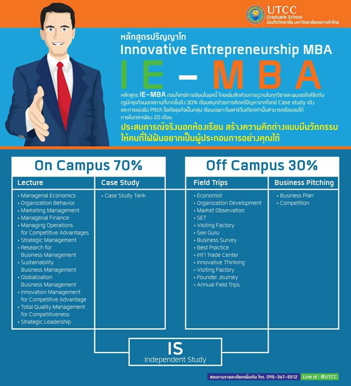 Innovative Entrepreneurship MBA UTCC